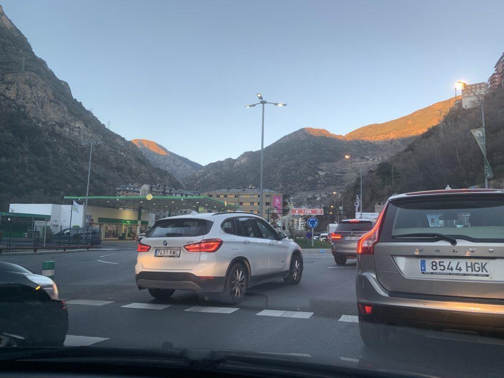 Bouchons à l'entrée de l'Andorre
