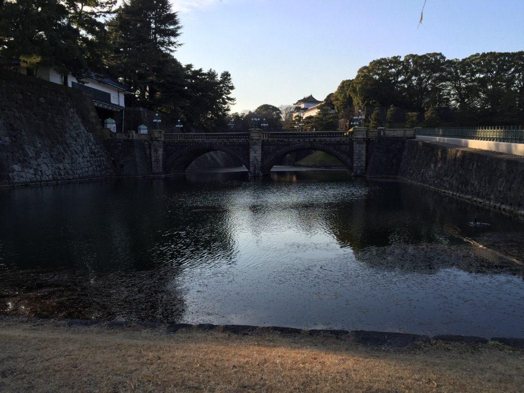 Entrée dans le palais impérial à Tokyo