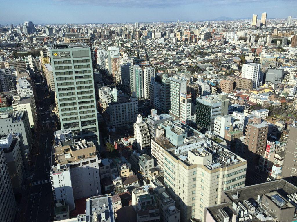Vue depuis le Bunkyō Civic Center sur Tokyo