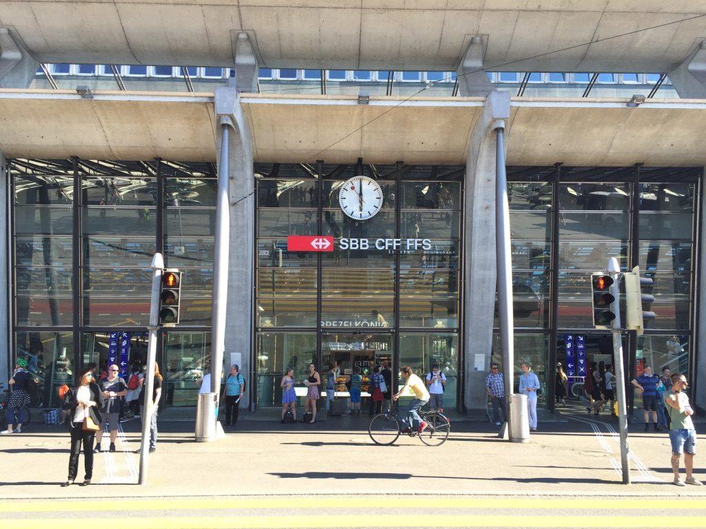 Gare de Lucerne en Suisse