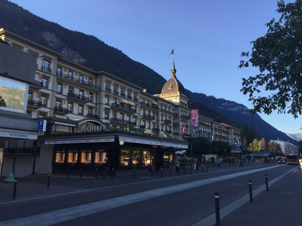 Ville Interlaken en Suisse