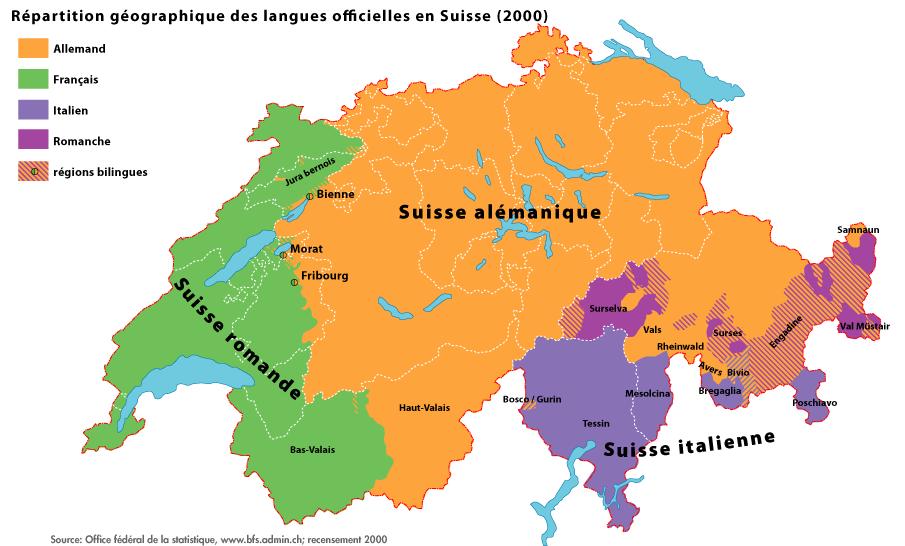 Langues officielles en Suisse