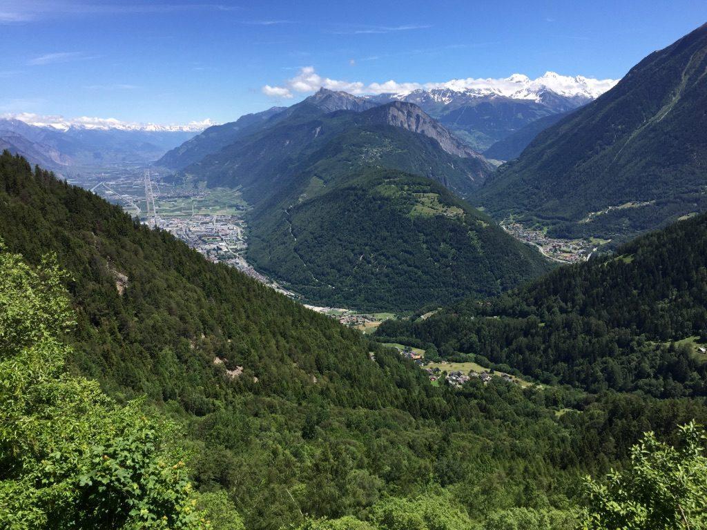 Ville de Martigny en Suisse