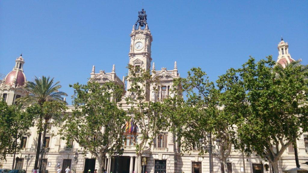 Hôtel de ville à Valence en Espagne
